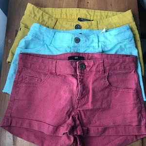 Colorful booty shorts
